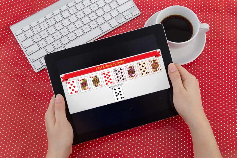 Belote en ligne sur tablette